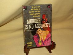 Murder Is No Accident by Jerome Barry Dell PB D369 1st Print May Ted Coconos
