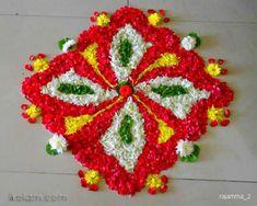 Kolam and Rangoli designs Flower Rangoli Images, Rangoli Designs Flower, Rangoli Ideas, Rangoli Designs Diwali, Kolam Designs, Mehandi Designs, Diwali Decorations At Home, Festival Decorations, Flower Decorations
