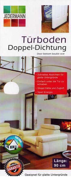 Türboden Doppel-Dichtung Zugluftstopper 90 cm schwarz oder grau 2 Stück – Bild 2