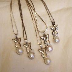 Sterling Silver Cultured Pearl Bunny Bridal by WeddedBlissBridals