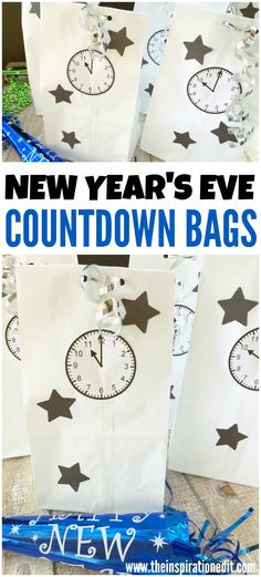 New Years Eve Party Ideas DIY Bag · The Inspiration Edit New Years Eve Party Ideas DIY Bag. Here is a fun free printable to make your own diy party bags for new years eve. This is a simple and easy New Years Eve Part Kids New Years Eve, New Years Eve Outfits, New Years Eve Party, New Years With Kids, Countdown For Kids, New Year's Eve Countdown, New Year Diy, New Year Gifts, Diy Party Bags