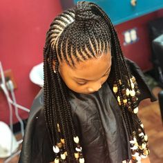 New Free of Charge kids Braided hairstyles Tips Braided hairstyles are extremely favorite nowadays. I know that whenever you ended up being small, o Box Braids Hairstyles, Cute Little Girl Hairstyles, Girls Natural Hairstyles, Baby Girl Hairstyles, Natural Hairstyles For Kids, Kids Braided Hairstyles, Natural Hair Styles, Little Girl Braid Styles, Kid Braid Styles