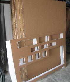 Tutoriel Table console de cuisine fonctionnelle tout en carton (Créations en carton - cartonnage) - Femme2decoTV