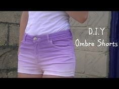 D.I.Y Ombre/ Dip Dye shorts