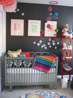 rainbow grey kids room - Google Search