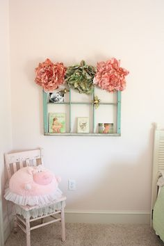 Amelia's Big Girl Room is coming together nicely. We carried over her vintage floral nursery into her big girl room. It is still in a work ...