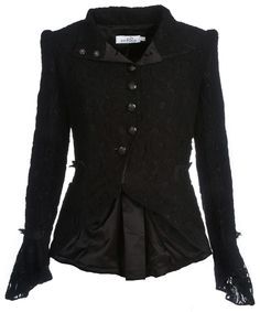 Lace and Cotton High Neck - Raven Jacket