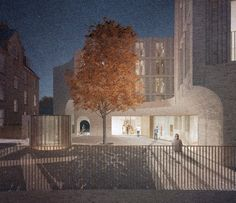 Hall McKnight\'s concept for an extension to St Hilda\'s College in Oxford