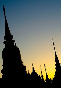 Chiang Mai Temple Spires - Chris Howey