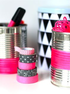 Duct & Washi tape - I cover everything with duck tape. It makes it all look adorable.