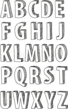 Vector of \'font, doodle, alphabet\'