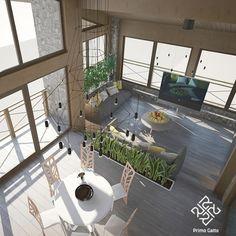 Наш дизайн-проект террасы в деревянном выполнен в современном стиле с использованием интересной дизайнерской мебели и природных отделочных материалов. Светильники #vibia #wireflow выглядят свежо и актуально, а круглый стол-трансформер #Idealsedia Basilea при необходимости раскладывается до двух метров.