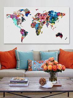 Mapamundi Fine Art Canvas