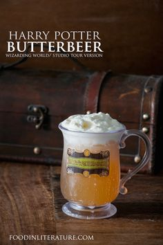 Make this recipe based on the Wizarding World Butterbeer right at home for an easy Harry Potter party treat!