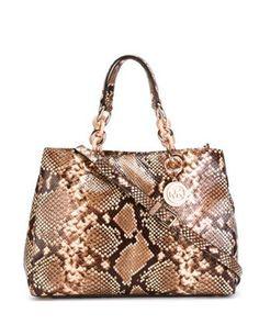 michael kors shoulder bags in Women's Handbags and Bags Brown Satchel, Satchel Purse, Satchel Handbags, Handbags Michael Kors, Leather Satchel, Purses And Handbags, Brown Purses, Brown Bags, Bling Purses