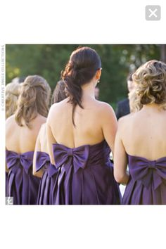 Bridesmaid dress - purple