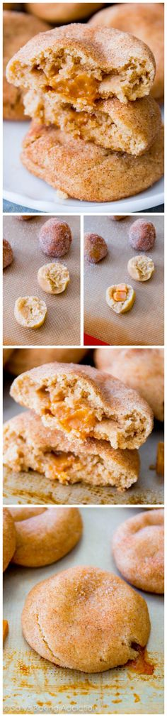 One of the best cookies I've ever made - Caramel Stuffed Snickerdoodle Cookies. No mixer required!