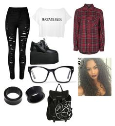 """""""Bvb pride (black pride/emo pride)"""" by theratchetdragon on Polyvore featuring Topshop, NOVICA, Y.R.U., Spitfire, women's clothing, women, female, woman, misses and juniors"""