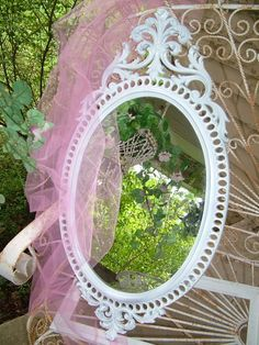 I love antique mirrors. Spray painting is a great way to revive them. Plus it's a great way to add antique flair to your modern color scheme.