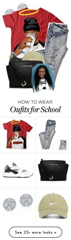 """School Today"" by denise-loveable-bray on Polyvore featuring NIKE, Nike Golf and MICHAEL Michael Kors"