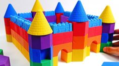 Learn Colors Kinetic Sand Rainbow Castle How to make for Kids