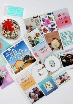 Scrapbook Sunday: August Messy Box Fun - A Beautiful Mess Project Life Scrapbook, Project Life Album, Project Life Layouts, Project Life Cards, Scrapbook Paper Crafts, Scrapbook Pages, Pocket Scrapbooking, Digital Scrapbooking, Alice Book