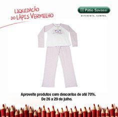 Pijama Feminino, de 149,90 por R$99,90 ba Água Fresca do @meupatiosavassi. #LLV