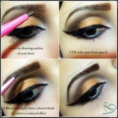 Fairy girl eyebrow pencil review ,swatches and eyebrow tutorial