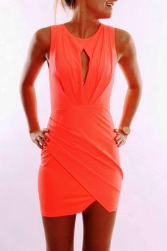 Jean Jail Goddess Dress Coral