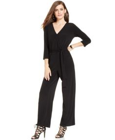 NY Collection Petite Belted Jumpsuit (Also in navy.)