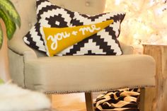 Sew your very own pennant pillow with this tutorial.