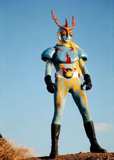 Inazuman(イナズマン,Inazuman?)is a hero from one ofShotaro Ishinomori's other works. Inazuman has a cameo inOOO, Den-O, All Riders: Let's Go Kamen Riderswhere he teams up withKikaider,Kikaider 01andZubatto destroyGeneral Shadowas he attempted to escape from the riders.