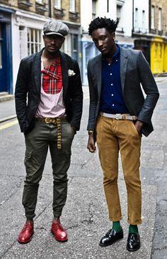 Joshua Kissi and Travis Gumbs  @ www.streetetiquette.com