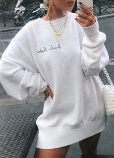Casual Fall Outfits That Will Make You Look Cool – Fashion, Home decorating Cute Comfy Outfits, Casual Outfits, Grunge Outfits, Look Fashion, Fashion Outfits, Street Fashion, Winter Fashion, Fashion Trends, Sweatshirt Outfit