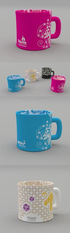 Cups vol1 by Paweł Staniecki, via Behance