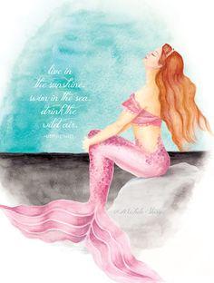 Custom Mermaid Art by Michele Starzec Ducharme http://www.msddesign.etsy.com