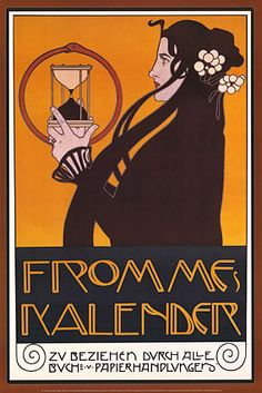 Design for the Frommes Calendar, for the 14th Exhibition of the Vienna Secession by Koloman Moser, 1902.
