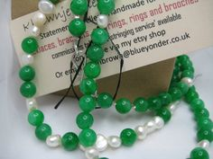 Hey, I found this really awesome Etsy listing at https://www.etsy.com www.kbrownjewellery.etsy.com /listing/126767298/green-jade-pearl-beadwork-necklace