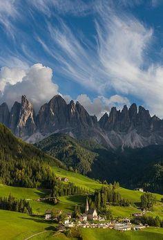 Santa Maddalena and clouds, By Hans Kruse.