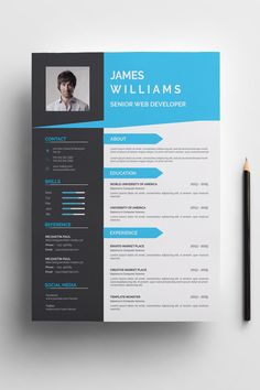 James Williams Resume Template ---CLICK IMAGE FOR MORE--- resume how to write a resume resume tips resume examples for student Cv Design Template, Modern Resume Template, Resume Design Template, Resume Templates, Online Cv Template, Templates Free, Portfolio Web, Creative Cv, Creative Crafts