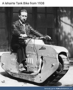 Not to worry; we are still flying half a tank Vintage Motorcycles, Custom Motorcycles, Custom Bikes, Cars And Motorcycles, Honda Motorcycles, Motorcycle Tank, Women Motorcycle, Motorcycle Helmets, Retro Futurism
