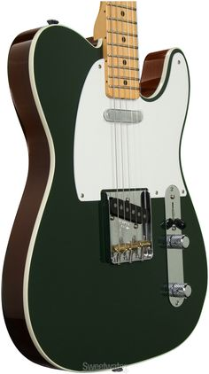 Fender Custom shop top bound dual tone Tele in dark green/walnut