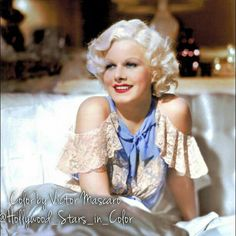 """Jean Harlow as Lola Burns in MGM's 1933 classic """"Bombshell""""!"""