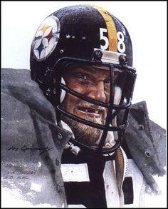 Pittsburgh linebacker Jack Lambert by Merv Corning
