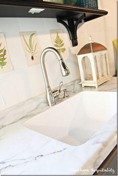 Karran Sink and Formica Countertop. Undermount laminate countertops!