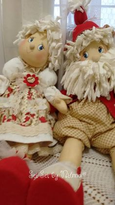 Christmas Decorations, Santa, Teddy Bear, Textiles, Toys, Animals, Diy Christmas Ornaments, Diy And Crafts, Fabric Dolls
