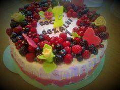 Ciasta ,Torty ,Uroczystości: Tort malinowo - czekoladowy dla  kochanej wnuczki ...