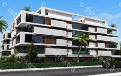Antalyada satılık daireler   EstateXtra Villa Design, Facade Design, Retirement Ideas, Social Housing, Aircraft Design, Modern Houses, First Home, Antalya, Modern Architecture