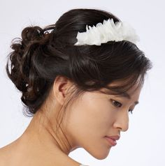 PROMO -30% Headband mariage soie, fleurs en mousseline mariage, made in France, couture mariage mariée.
