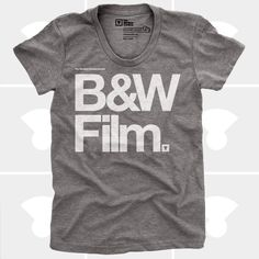 B&W Film TShirt for Women by Medium Control + Women Fashion #film #mediumcontrol #tee